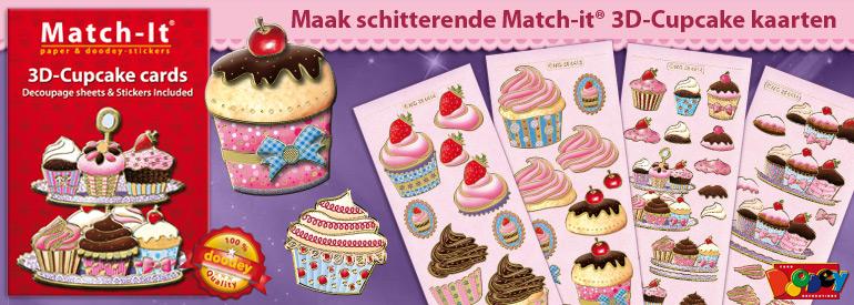 Match-it 3D cupcake cards