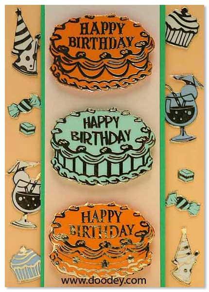 birthday card cake