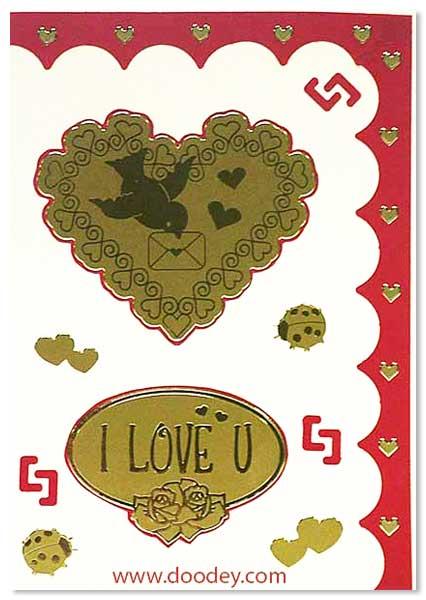 love card hart with bird I love you