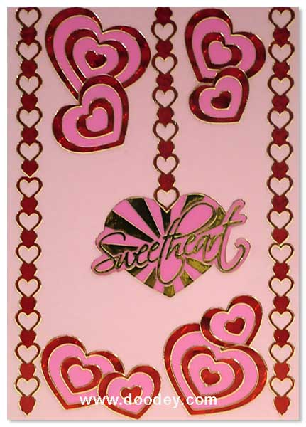 love card with sweetheart and hart corner