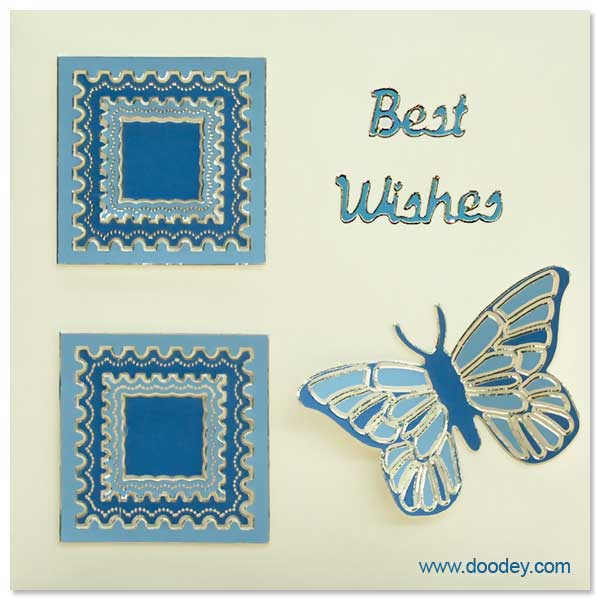best wishes card with butterfly