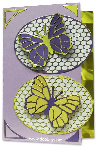 card with 2 butterflies