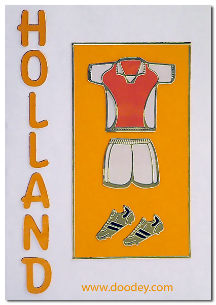 soccer card shirt and shoes