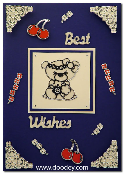 best wishes card bear