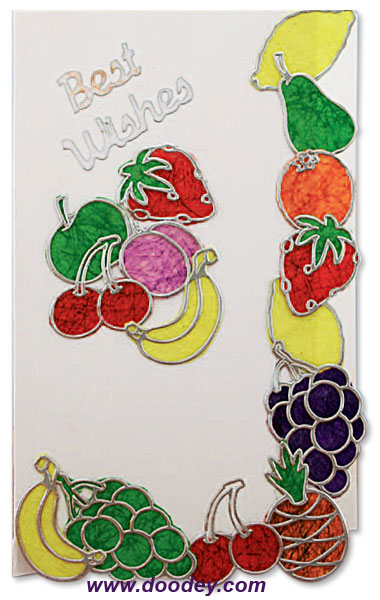 best wishes card fruit