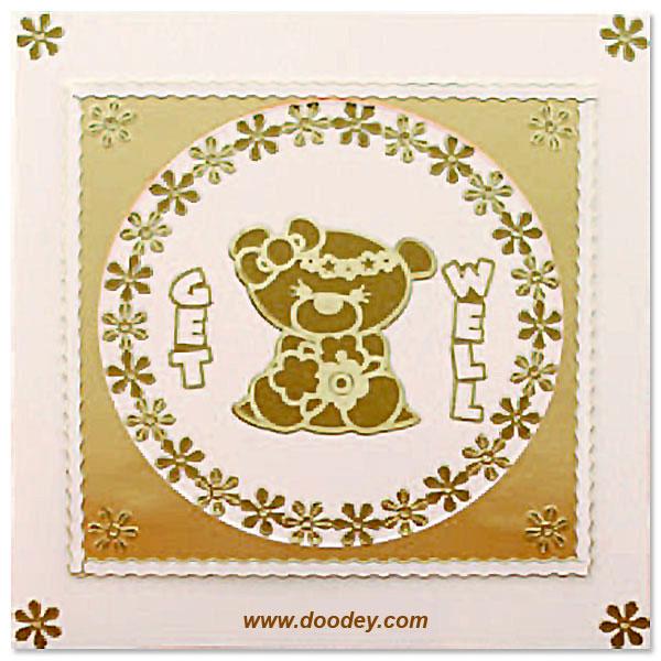 get well card flowers