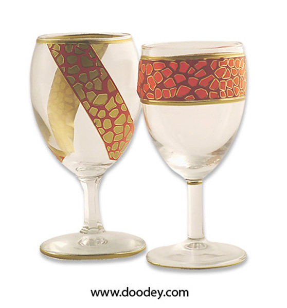 glasses with mosaic