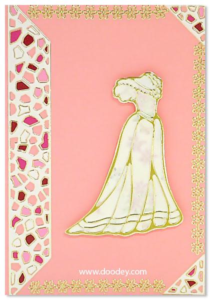 card fashion dress with mosaic