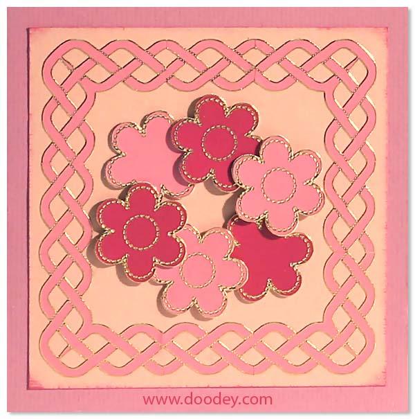 card pastel flowers