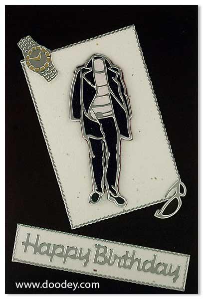 Fashion card man sunglass watch