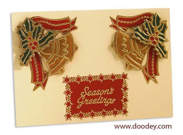 christmas card bells with star border