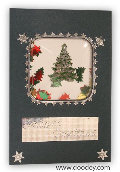 christmas card shake card three