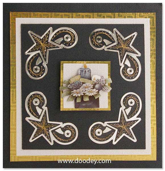 christmas embroidery card star corner