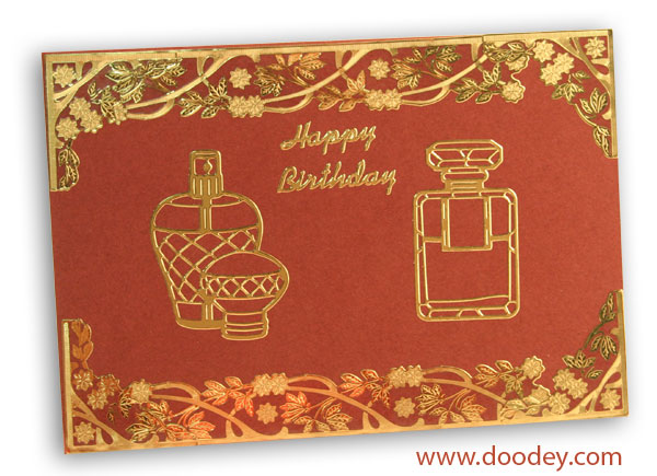Make Up card with bloesem border