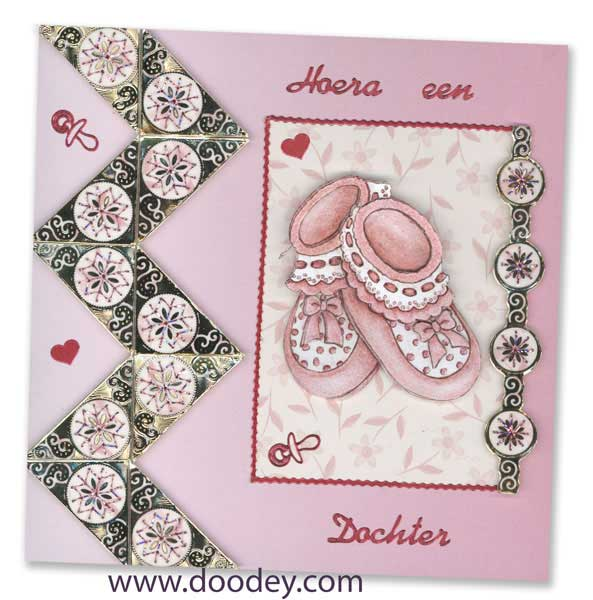 embroidery baby girl corners and borders