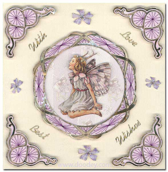 embroidery with love and best wishes fairy