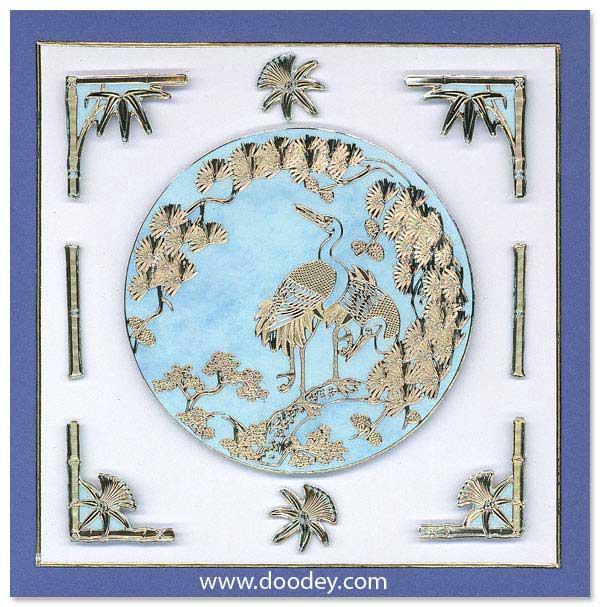Oriental MD card chinees birds
