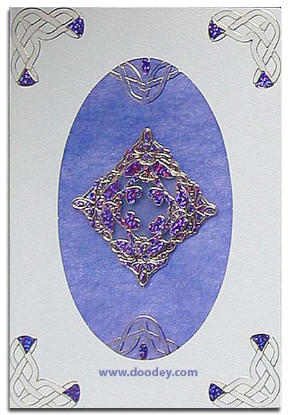 card with woven borders