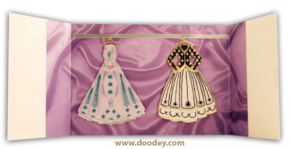 card fashion embroidery dresses