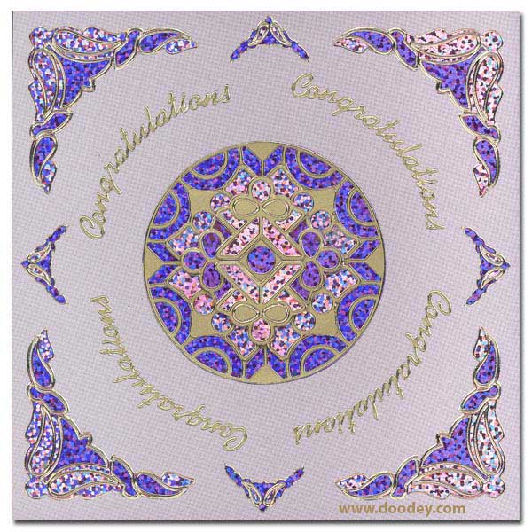 card mandala with holographic corners