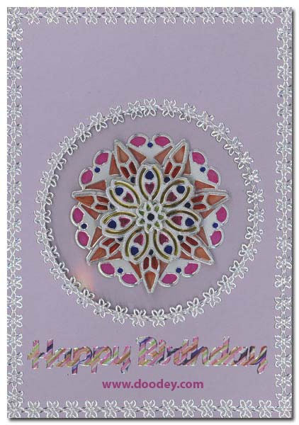 card mandala happy birthday with craftmarkers
