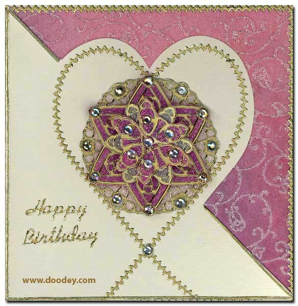 card mandala heart