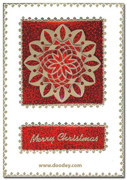 card mandala merry christmas holographic