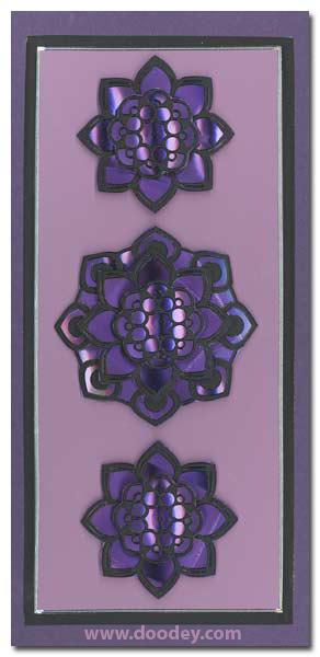 card with black mandala holographic