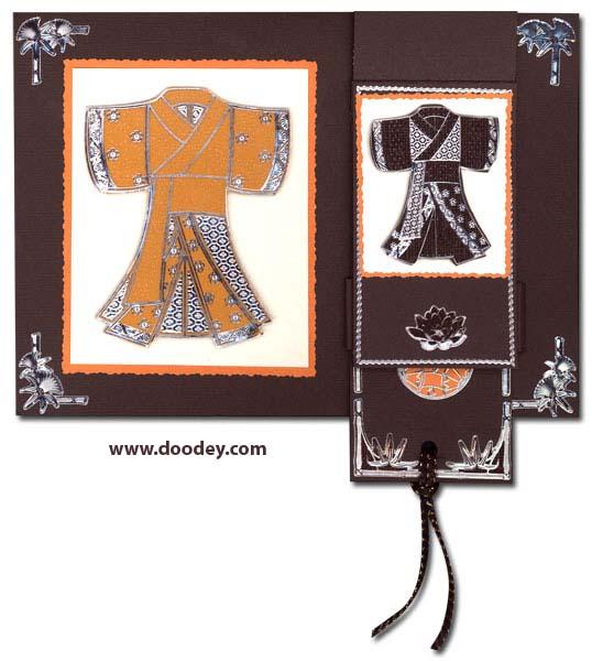 flip card chinese kimono