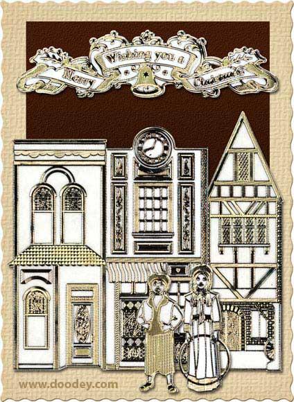 old english christmas card