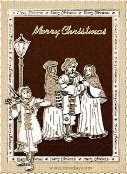 christmas card charles dickens style