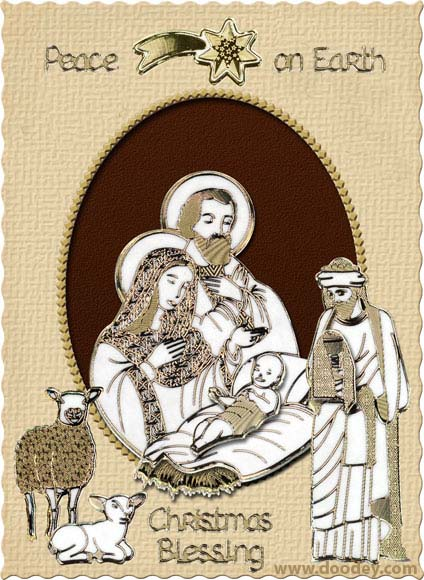 christmas card nativity scene