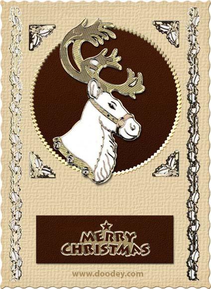 christmas card rudolf the red nose reindeer