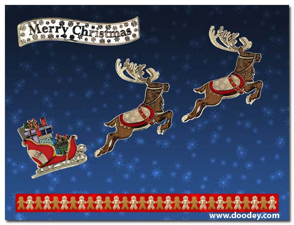 christmas match-it rudolf with luge