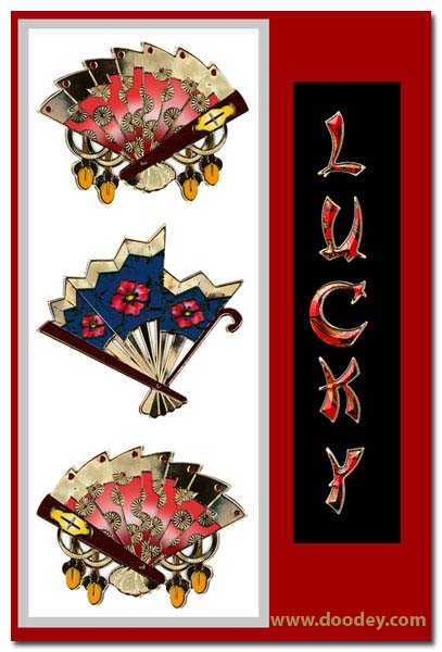 card 3 chinese fans