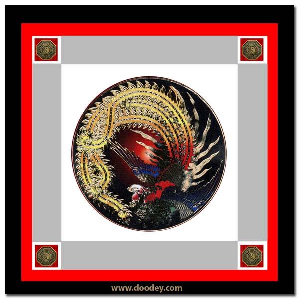 card chinese bird