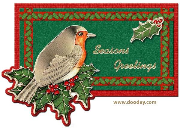 card with bird season greetings