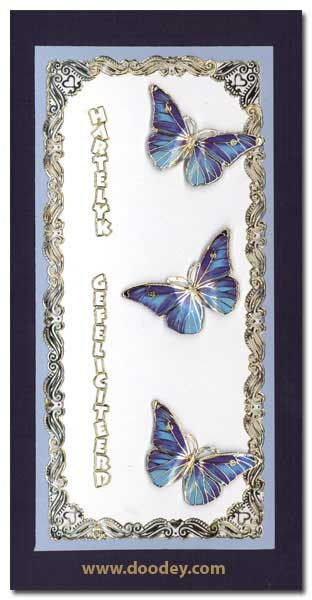 card happy birthday with butterflies