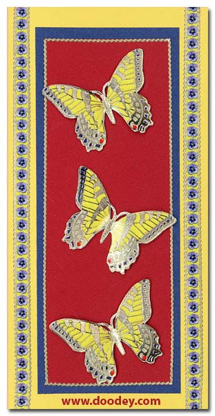 card 3 butterflies