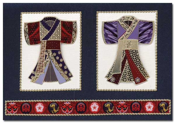 card little kimonos