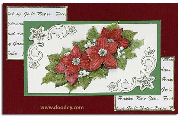Christmas card with transparent star corner