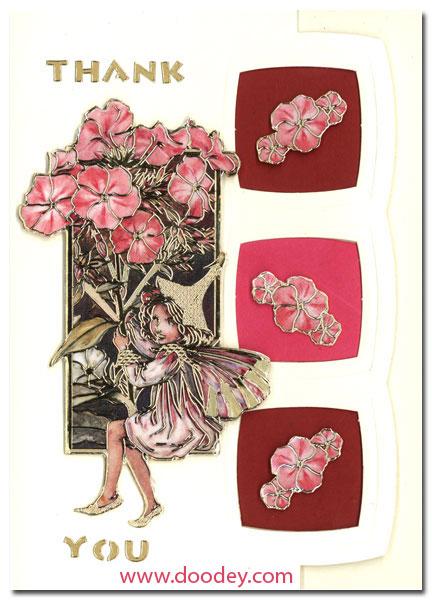 Thank you Card Flower Fairies