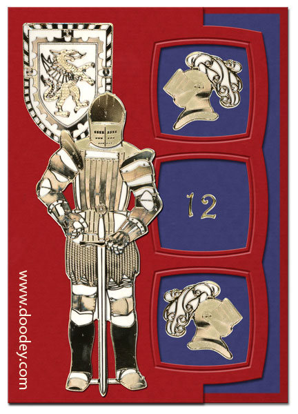 Card Knight with sword and shield