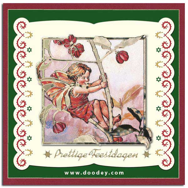 Flower Fairies card spindleberry merry christmas