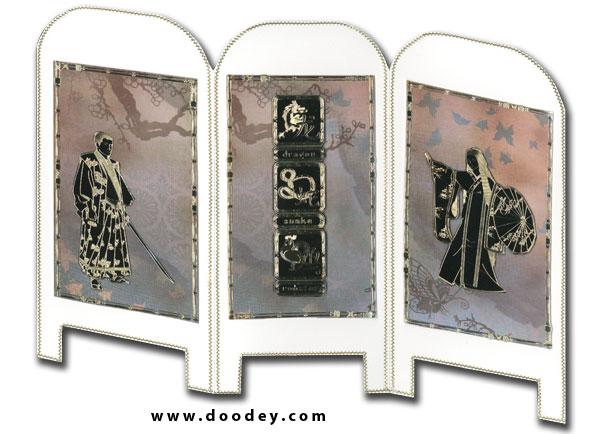 Card oriental screen