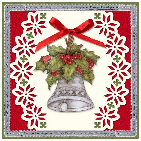 Christmas card with bell