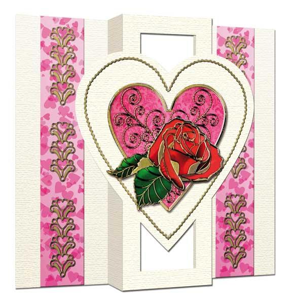 Romantic 3D Rose card