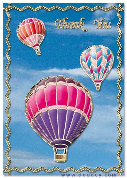 card with air-balloons and clouds