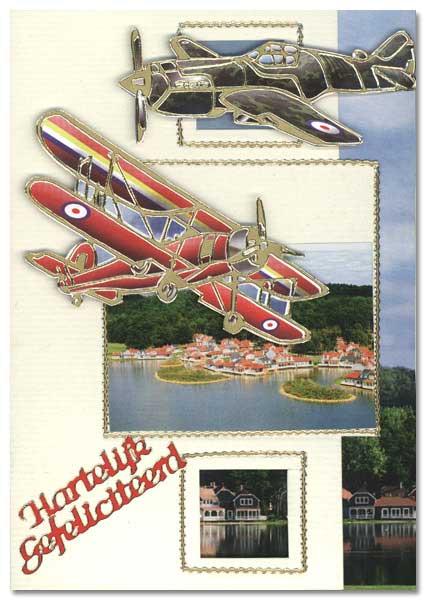 card with aeroplane