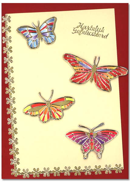 card with butterflies